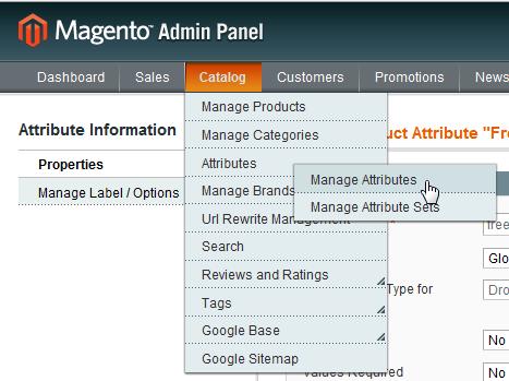 manage attributes